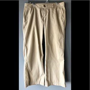 Gap wide leg chino pants
